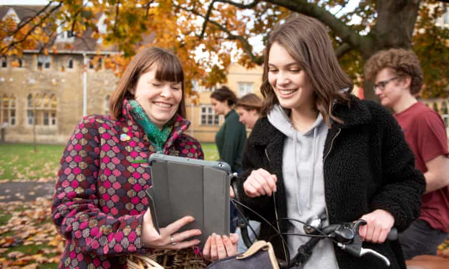 Johanna Anderson, left, has caused such a spike in student voter registrations at the University of Gloucestershire that the electoral office in Cheltenham phoned to thank her.