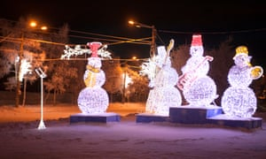 New Year decorations in the centre of Murmansk