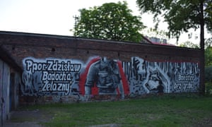 A mural in Dąbrowa Górnicza commemorating one of the 'cursed soldiers' who fought against Poland's post-war communist government.