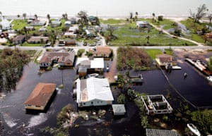 Flooding on Grand Bahama Island after Hurricane Dorian.