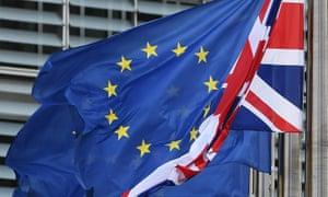 EU and union flag