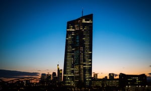 The European Central Bank at sunset