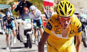 Michael Rasmussen in the yellow jersey on his way to victory on the Col d'Aubisque in 2007. Hours later he left the race under cover of darkness