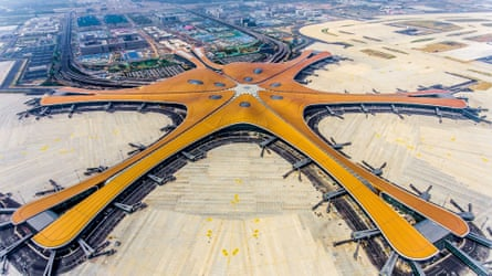 The terminal of the new Beijing Daxing international airport.