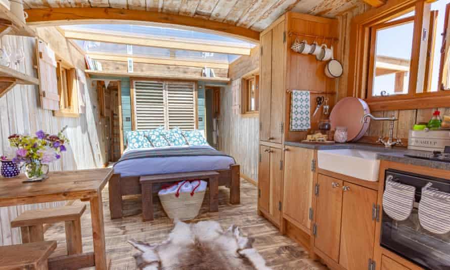 Quirky Huts Family Hut interior