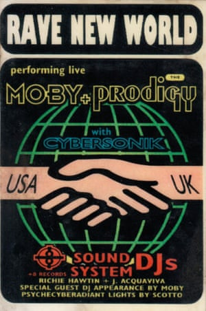 A pass for Moby's tour with the Prodigy in 1992