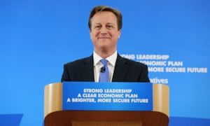 David Cameron attends a gathering of local Conservatives at a Cheltenham church hall.