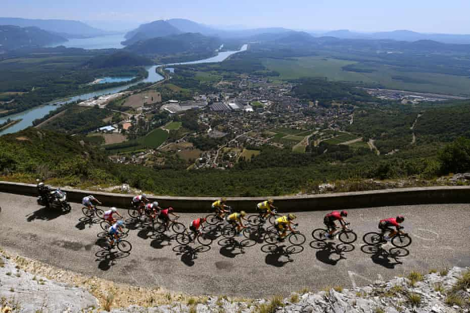 Grand Colombier, climbed on the recent Tour de L'Ain, will provide the finale to stage 15.