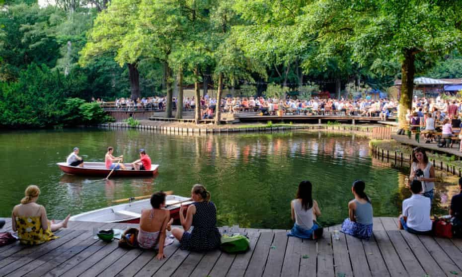 Tiergarten park in Berlin.