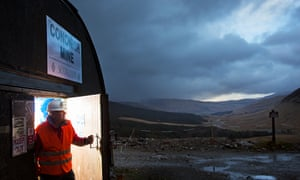 Richard Gray, Scotgold's chief executive, at the Tyndrum goldmine.
