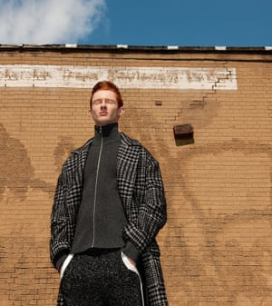 Raey's essing with the classics Coat, £895, top, £495, and track pants, £150, all by Raey (matches fashion.com)