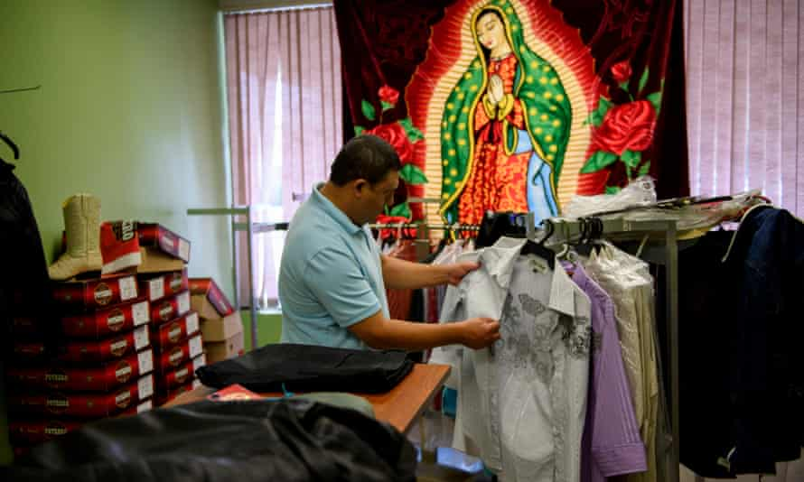 Efrian Ruano, a Guatemalan immigrant and now a US citizen, at a Guatemalan shop in Salem.