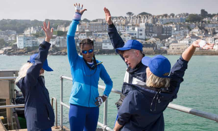 Lucy Fallon, Denise Lewis, Joe Weller and Kimberly Wyatt in Don't Rock the Boat