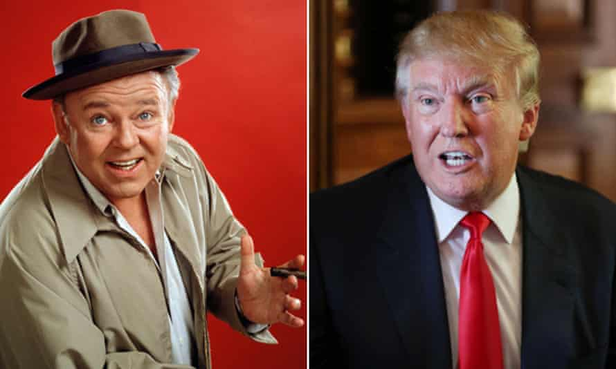 Composite of Archie Bunker and Donald Trump