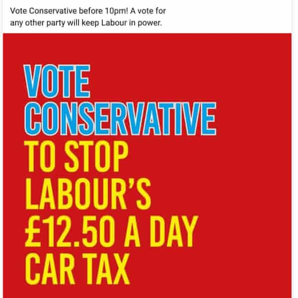 Newcastle Conservatives Facebook ad