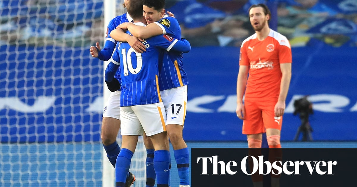 Brighton ride their luck as Steven Alzate deflection knocks out Blackpool