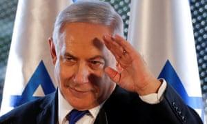 Israeli prime minister Benjamin Netanyahu on a recent visit to Hebron.