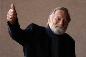Australian actor Jack Thompson arrives at the state memorial service.