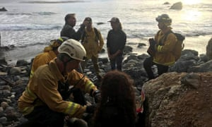 Angela Hernandez  and emergency crew