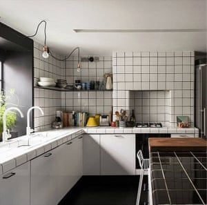 Credit to The Darkroom co-founder Lulu Roper-Caldbeck for her modernist graph-paper tiling and beautiful bullnose corners on the walls and countertops. @luluroper