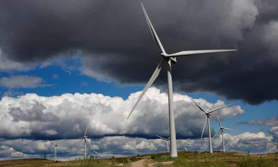 Whitelee, the UK's largest onshore windfarm,