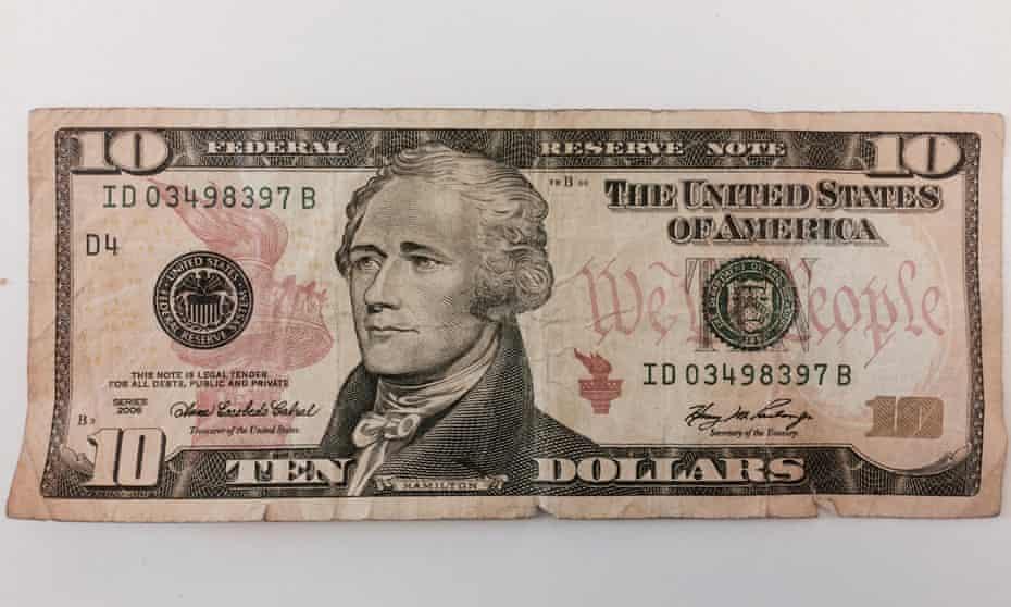 Alexander Hamilton on the US $10 note.