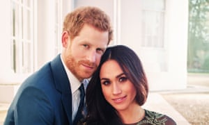 Prince Harry and Meghan Markle when they announced their engagement.
