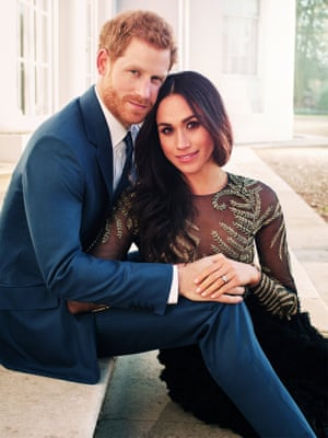 One of Prince Harry and Meghan Markle's official engagement photographs