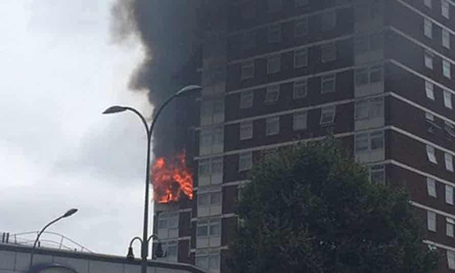 Fire in tower block