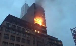 At least 10 fire engines attended the blaze in Manchester's Northern Quarter.