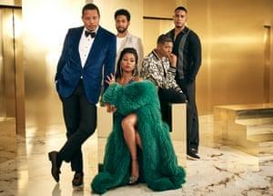 Clockwise from left: Terrence Howard, Jussie Smollett, Bryshere Gray, Trai Byers and Taraji P Henson of Empire