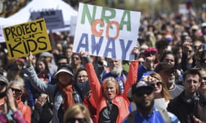 The March for Our Lives rally in support of gun control in San Francisco, on 24 March 2018. The National Rifle Association sued San Francisco over the city's declaration that the group is a 'domestic terrorist organization.'