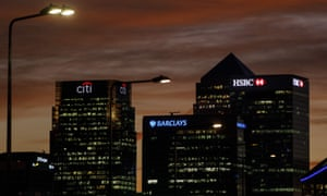 Banks in Canary Wharf