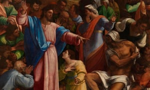 Detail of The Raising of Lazarus, c1517–19, Sebastiano del Piombo incorporating designs by Michelangelo.