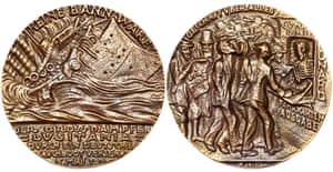 The 'satirical' Goetz medal, made in Germany during the first world war, was seized upon as evidence of German cruelty.