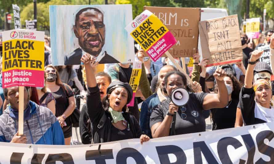A Black Lives Matter protest in London, 13 June