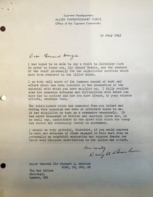 The letter from Eisenhower