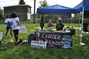 Activist Max Neely, who runs a chapter of the Redneck Revolt group.