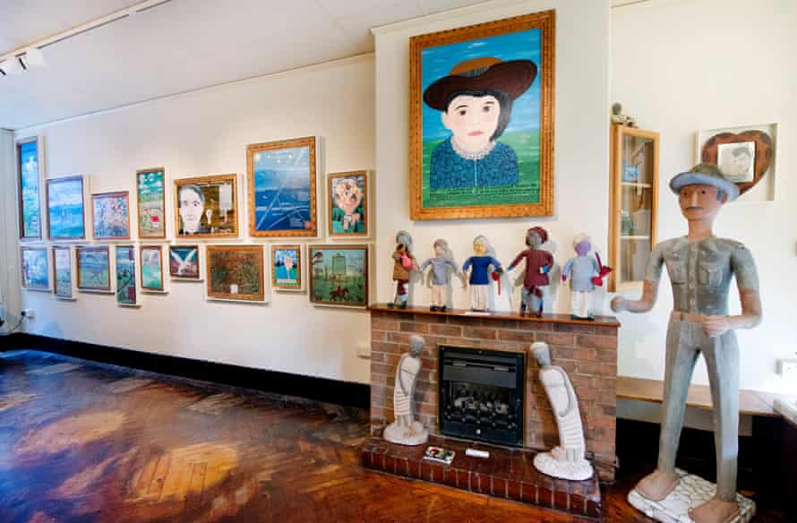 Art by Howard Finster and Nek Chand Saini at the Gallery of Everything.