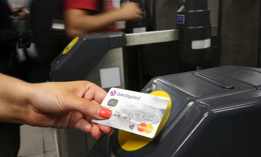 Contactless payment at tube station