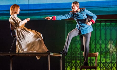 Marie Burchard and Laurenz Laufenberg as the doomed lovers in Beware of Pity at the Barbican.