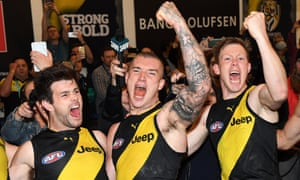 Trent Cotchin, Dustin Martin and Jack Riewoldt.
