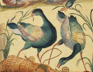 Mosaic Emblema: Marsh Scene with Birds, unidentified Italian artist, c 1627.