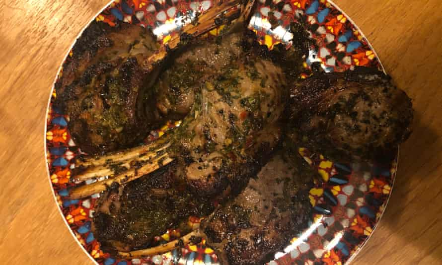 'There is chilli and honey, ginger and salt and, of course, garlic. There usually is…' lamb cutlets.