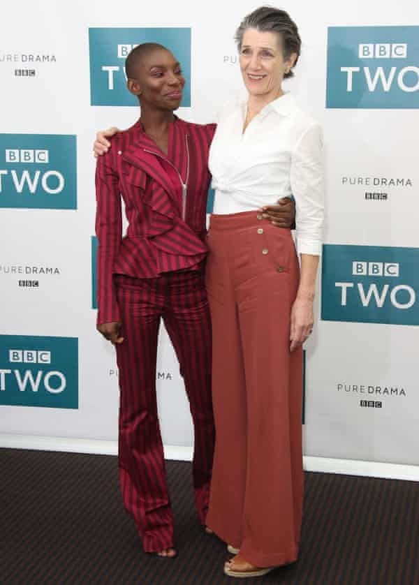 Michaela Coel and Harriet Walter during the 'Black Earth Rising' photocall at BAFTA on August 1, 2018 in London, England.