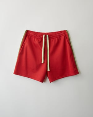 Track shorts red/green