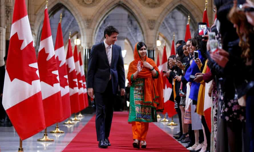 Malala Yousafzai Justin Trudeau