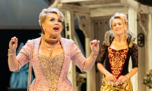 The Merry Wives of Windsor production photos 2018 Rebecca Lacey in foreground and Beth Cordingly