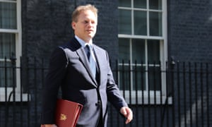 Grant Shapps leaving cabinet this morning.