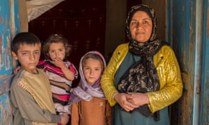 Anita Zadid, 30, at 凯发官网网址多少home in Herat's Pashtun Zarghun district with her three children.